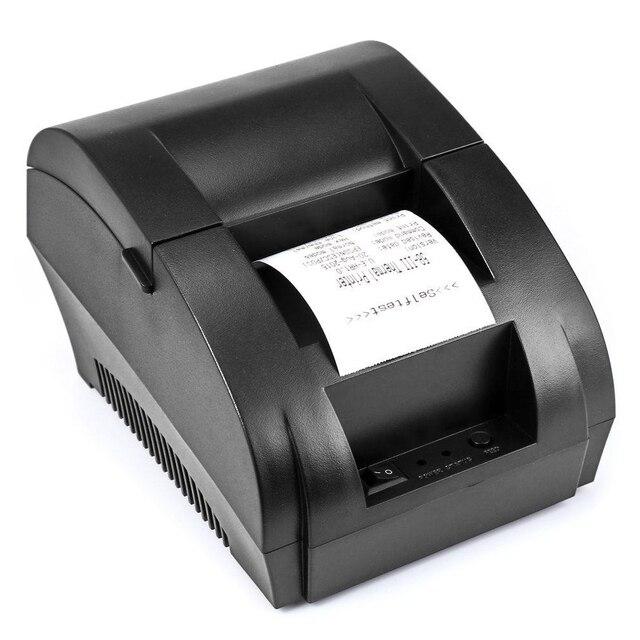 Mini impresora térmica de 58mm 5890 k impresora POS impresora de recibos térmicos interfaz USB factura de restaurante PrinterZJ5890K