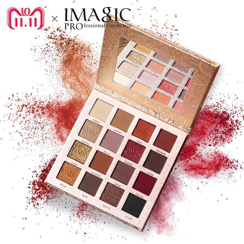 IMAGIC Nuovo Arrivo Charming Ombretto 16 Colore Tavolozze Make up Tavolozze Matte Shimmer Pigmentato Ombretto In Polvere