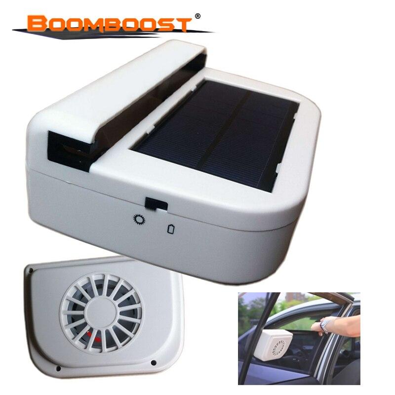 Air Vehicle Radiator vent Portable Solar Sun Power Car Fan Auto Ventilator Cooler for Solar Energy Ventilating Fan System White