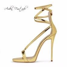 734f52a7095ebc Arden Furtado 2018 new summer high heels fashion shoes for woman buckle  strap platform gold silver