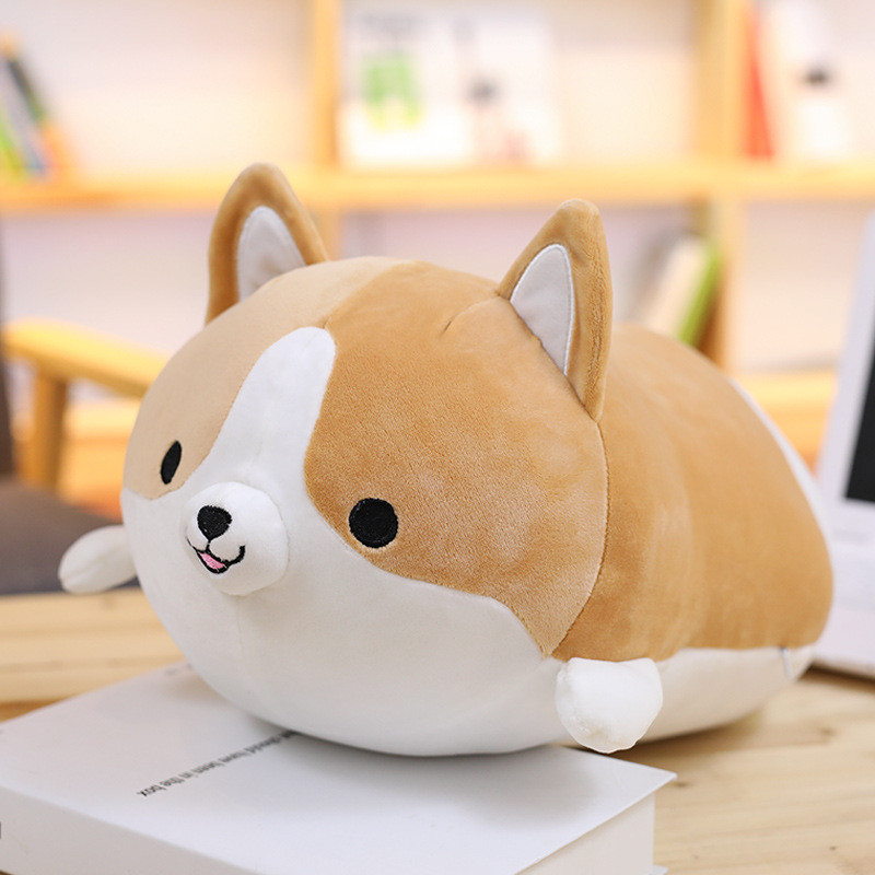 Corgi Dog Plush Toy Cute Cartoon Kawaii Stuffed Soft Doll Cushion Boys Girls Anti Stress Cushion Pillow Toys For Children Kids