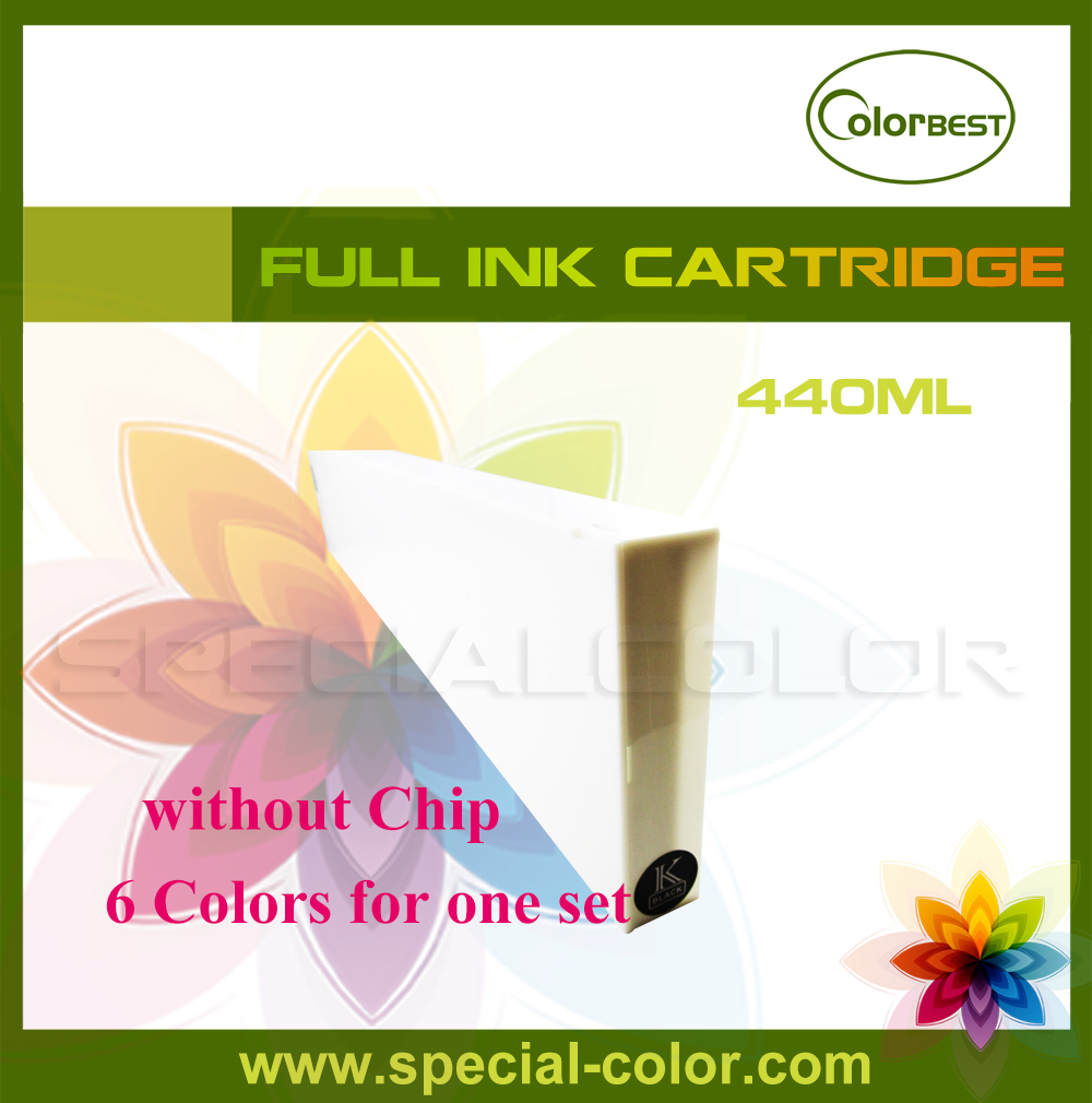 6pcs/set CMYK LC LM Compatible Mimaki DX4 Printer 440ml Eco Solvent Ink Cartridge without Chip permanent roland xj 640 xj 740 eco solvent chips 6pcs set cmyklclm printer parts
