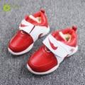 JRQIOT new children's sports shoes plus velvet warm cotton shoes running waterproof shoes