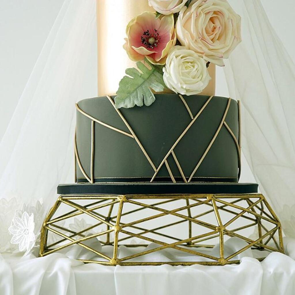 Geometric Cake Stand Iron Metal Base Cake Tools Wedding Table Decoation