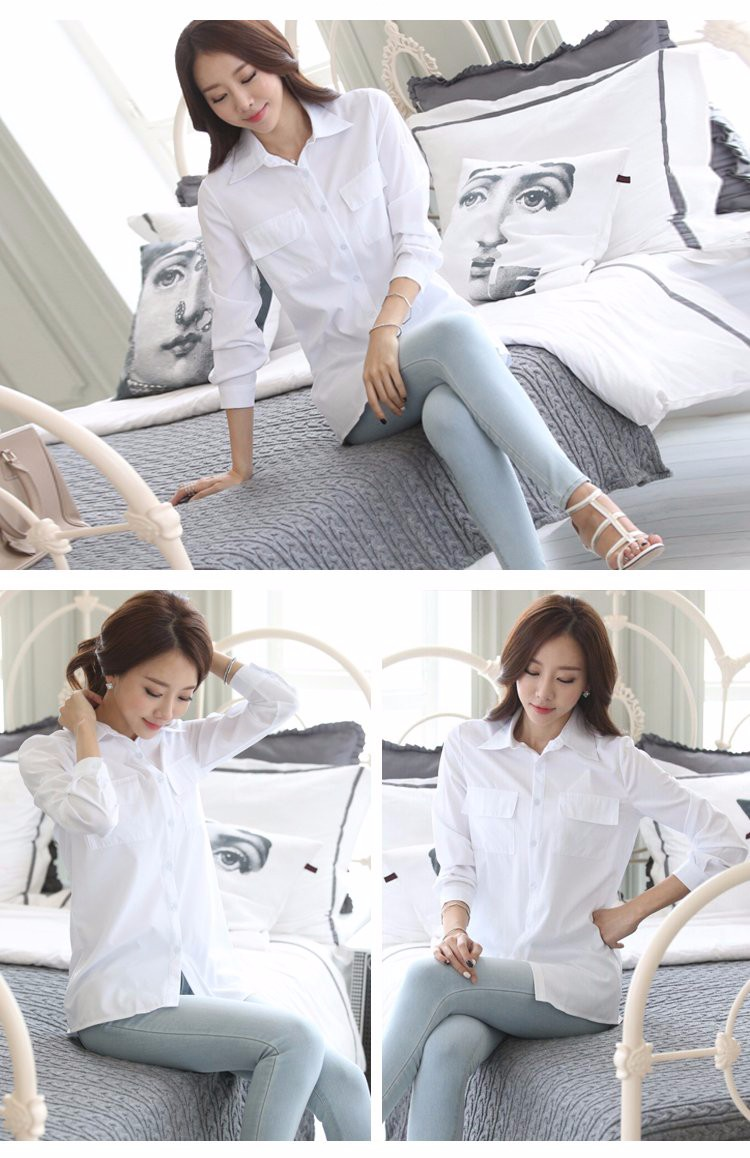 HTB1G9knLXXXXXXkaXXXq6xXFXXXX - Casual Blouse Long Sleeve Femininas Ladies Work Wear Tops Shirt