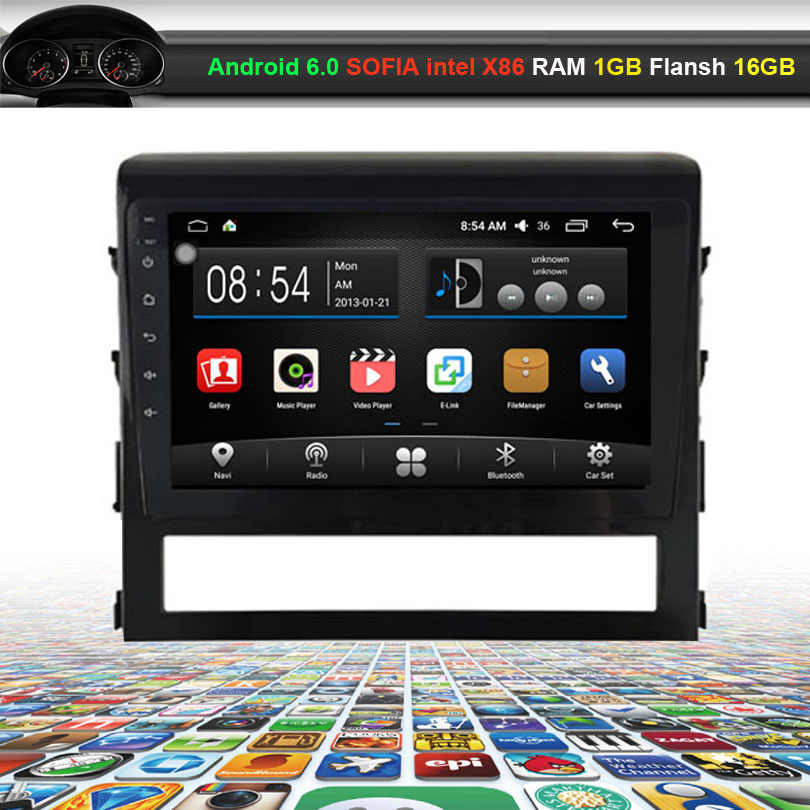 9 inch Car Video Audio Player for Toyota Landcruiser 2016 2017 with GPS Navigation Bluetooth Wifi (NO DVD)
