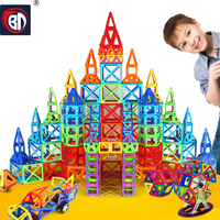 BD 214pcs Mini Magnetic Designer Construction Set Model Building Toy Magnetic Blocks Educational Toys For Kids