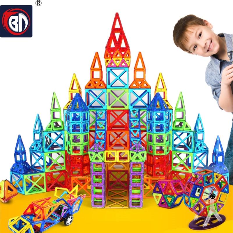 BD 214 шт. Мини Магнитный конструктор construction set модель здания игрушка Магнитная Конструкторы образования Игрушечные лошадки для детей Рождественский подарок