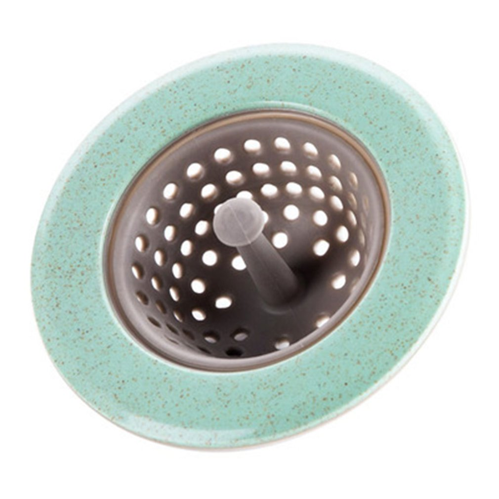 Bright Silicone Strainer Round Floor Drain Cover Plug Anti-blocking Water Hair Catcher Filter Kitchen Bathroom Pink/green/blue/beige Drains