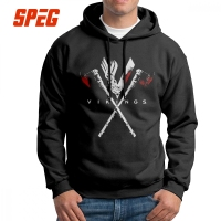 The Amazing Vikings Logo Valhalla Men's Sweatshirt Vintage Pure Cotton Hoodies Autumn Hoodie Shirt