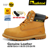 Safetoe Mens Safety Shoes Work Boots Trainers Yellow Extra Wide Steel Toe Us Size4 13 SRC