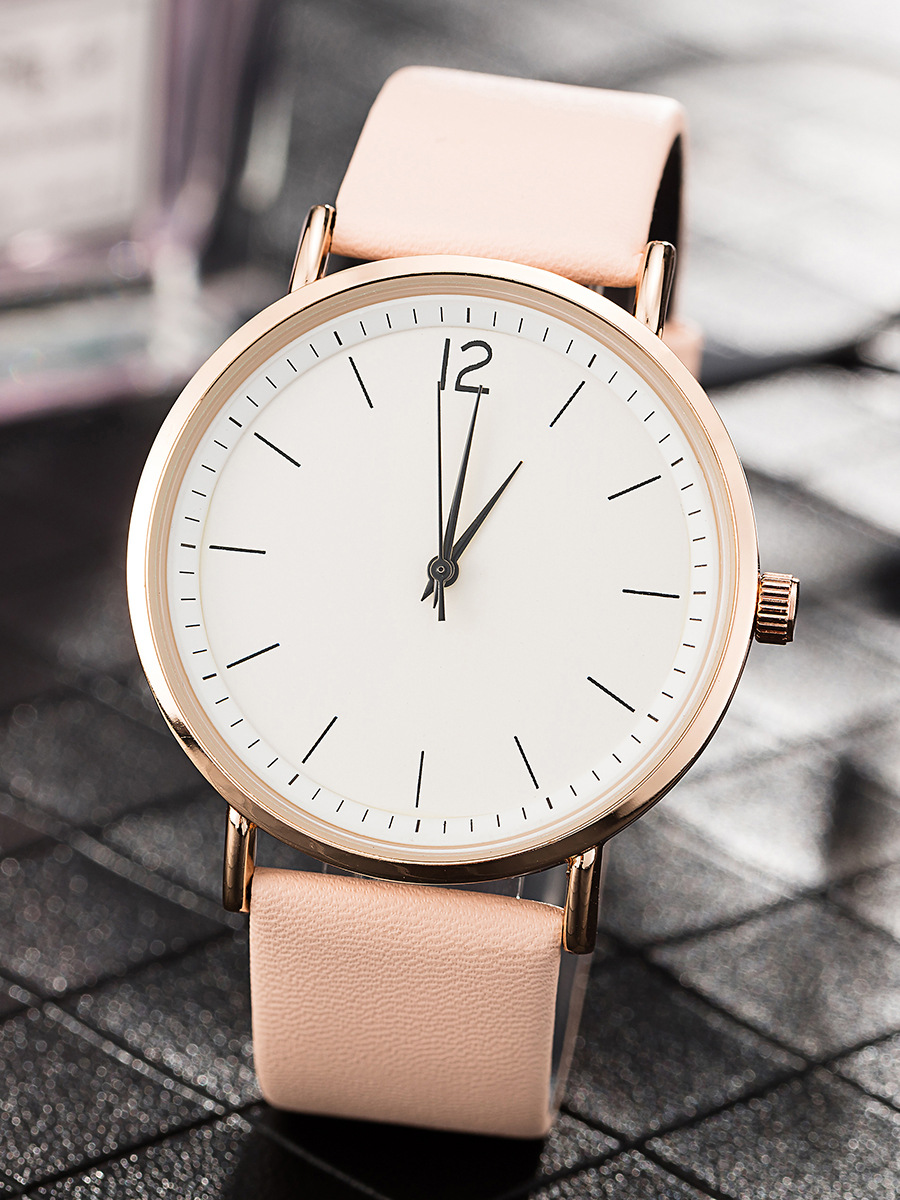 Top Brand Women Vintage Leather Watch Ladies Simple Quartz Wrist Watches for Small Wrist Elegant Relogios Leather Strap white stripe cold shoulder long sleeves t shirts
