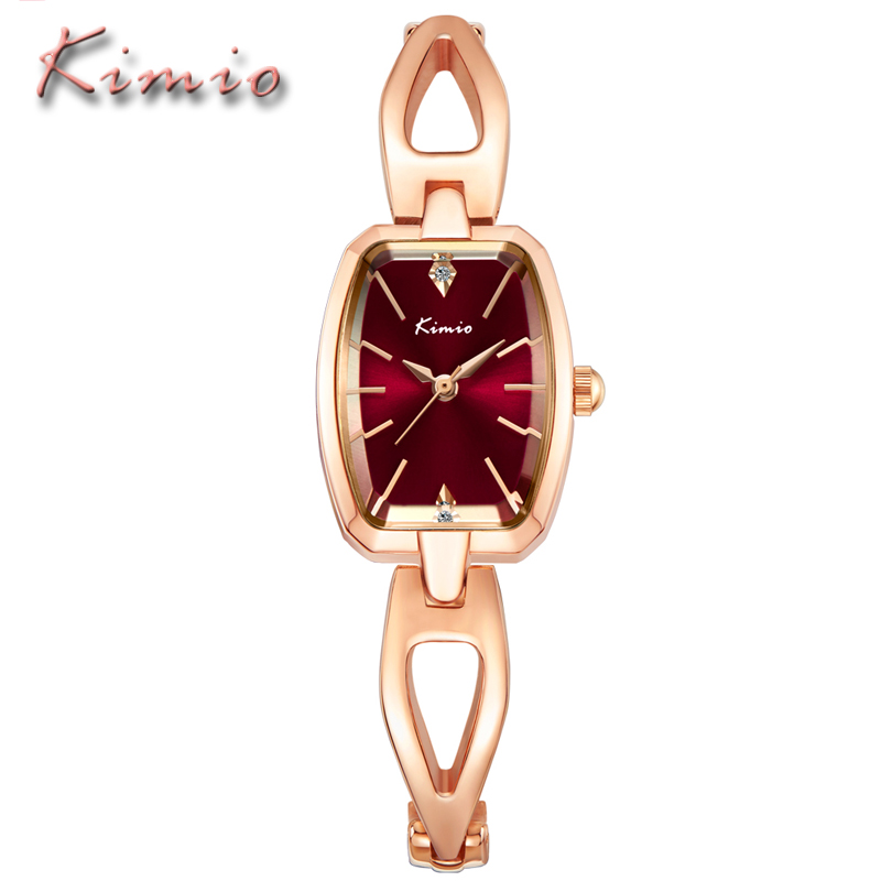 KIMIO Luxury Brand Women Fashion Quartz Watch Ladies Rose Gold Stainless Steel Bracelet Watches Casual Clock Female Dress Uhr jinen women new top quality brand watches japan quartz waterproof rose gold stainless steel watch business luxury female clock
