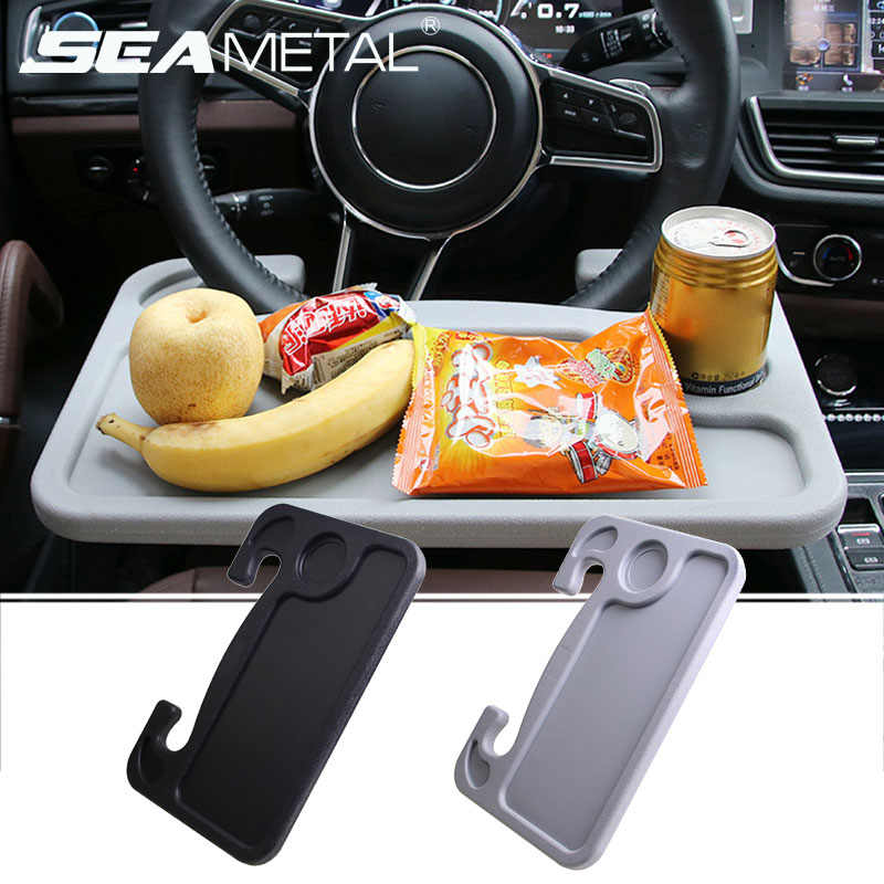 <font><b>Car</b></font> Steering Wheel Desk Portable Mini <font><b>Table</b></font> Universal Laptop Tablet Drink Food Cup Tray Holder <font><b>Notebook</b></font> Stand Auto Accessories image