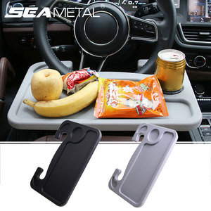 Image 1 - Car Steering Wheel Desk Portable Mini Table Universal Laptop Tablet Drink Food Cup Tray Holder Notebook Stand Auto Accessories