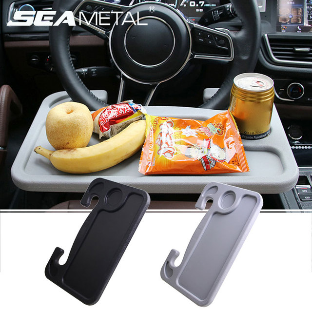 Car Steering Wheel Desk Portable Mini Table Universal Laptop Tablet Drink Food Cup Tray Holder Notebook Stand Auto Accessories
