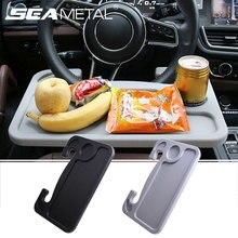 Roda de Direcção do carro Secretária Tabela Mini Portátil Universal Tablet Laptop Bandeja Copo do Alimento Bebida Titular Estande Notebook car Auto Acessórios