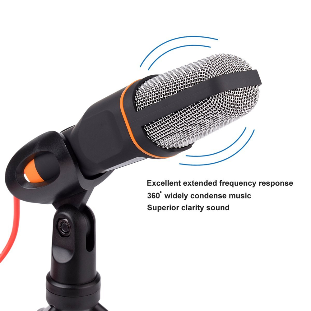 GEVO most popular High Quality Professional Computer Microphone Mic w/ Stand For PC Laptop Skype MSN Singing 50PCS/Lot Free DHL 5
