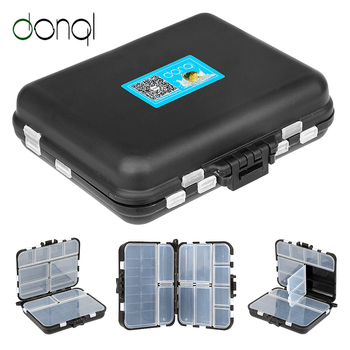 DONQL Fishing Tackle Box Double Side Case