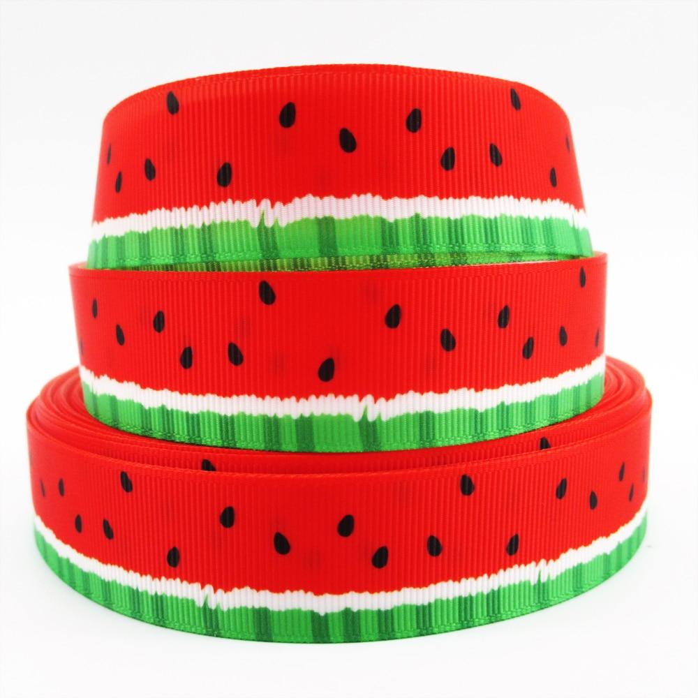 Mixed Colors Sizes Watermelon Fruit Cartoon Grosgrain Ribbon Craft Bow 2 Yards