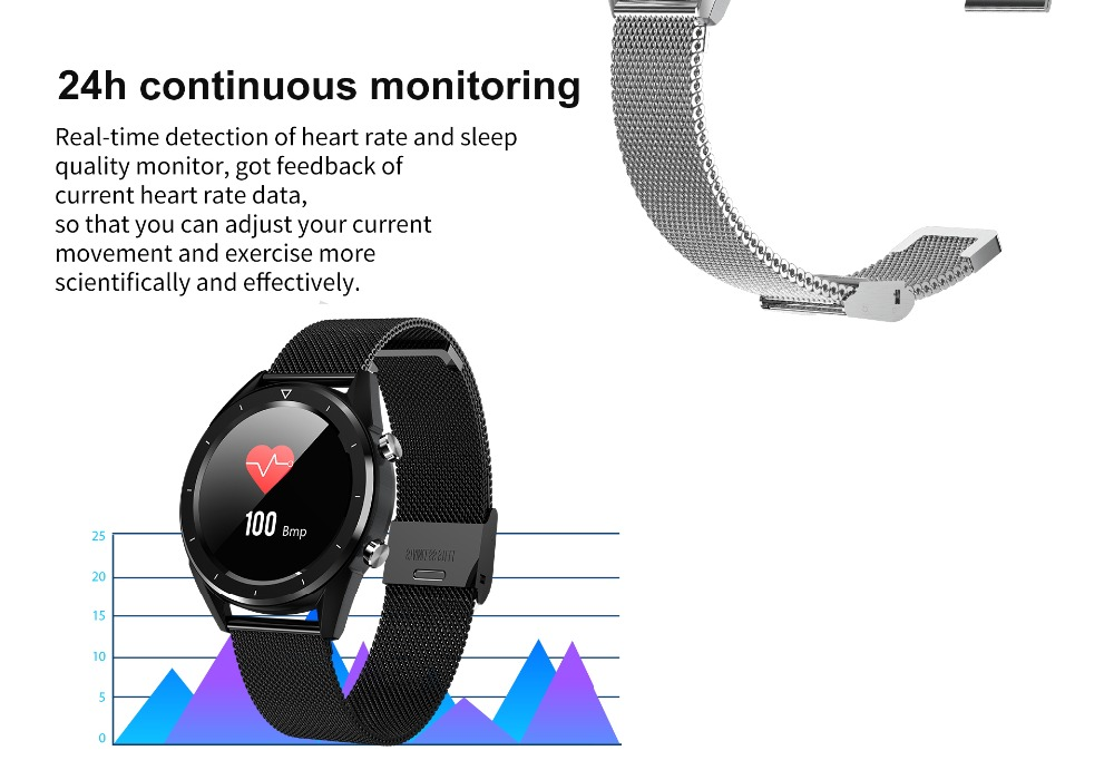 ECG Heart Rate Monitor de Fitness Rastreador relógio Bluetooth PK P68