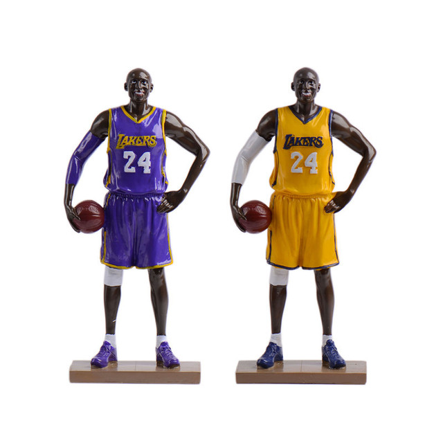 Creative Resin NBA Star Kobe Bryant Figurines Basketball Model Ornaments Boyfriend Birthday Gifts Furnishing