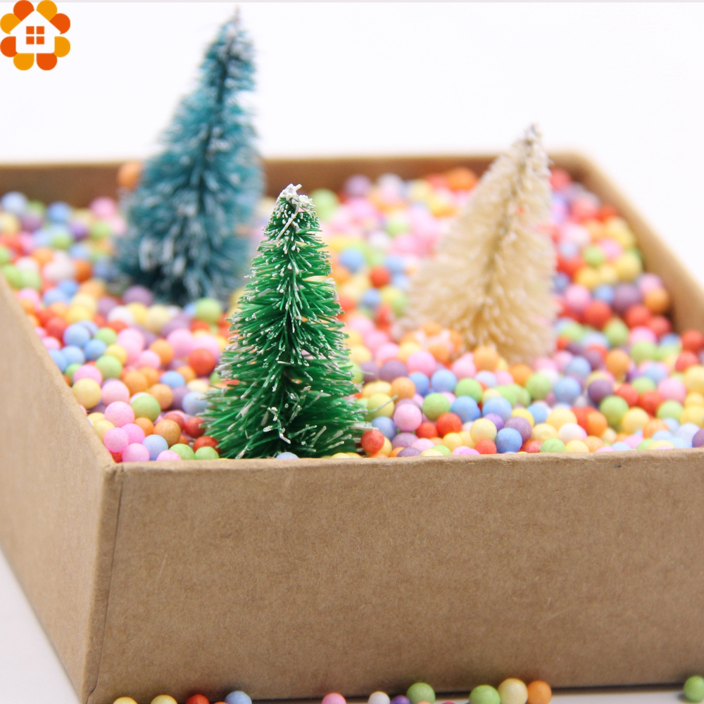 New!15PCS DIY Christmas Tree 3Colors Small Pine Tree Mini Trees Placed In The Desktop Home Decor Christmas Decoration Kids Gifts