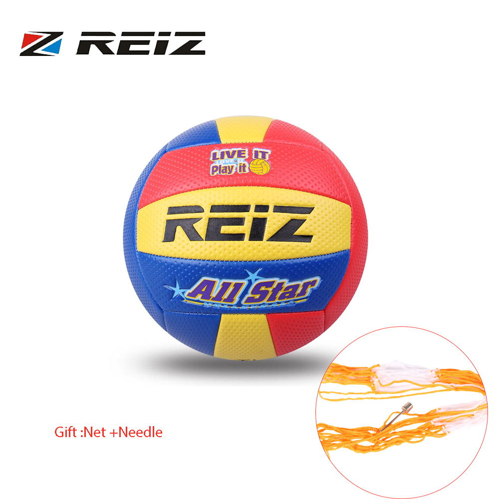 REIZ Soft Touch PU Leather 5# Volleyball Ball Outdoor Indoor Training Competition Standard Volleyball Ball For Students Brand