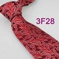 YIBEI lazos Para Hombre Retro Burdeos Con Red Florals Tejida Corbata de Seda Corbatas Lazo de la moda para los hombres camisas de vestir de Boda Hecho A Mano