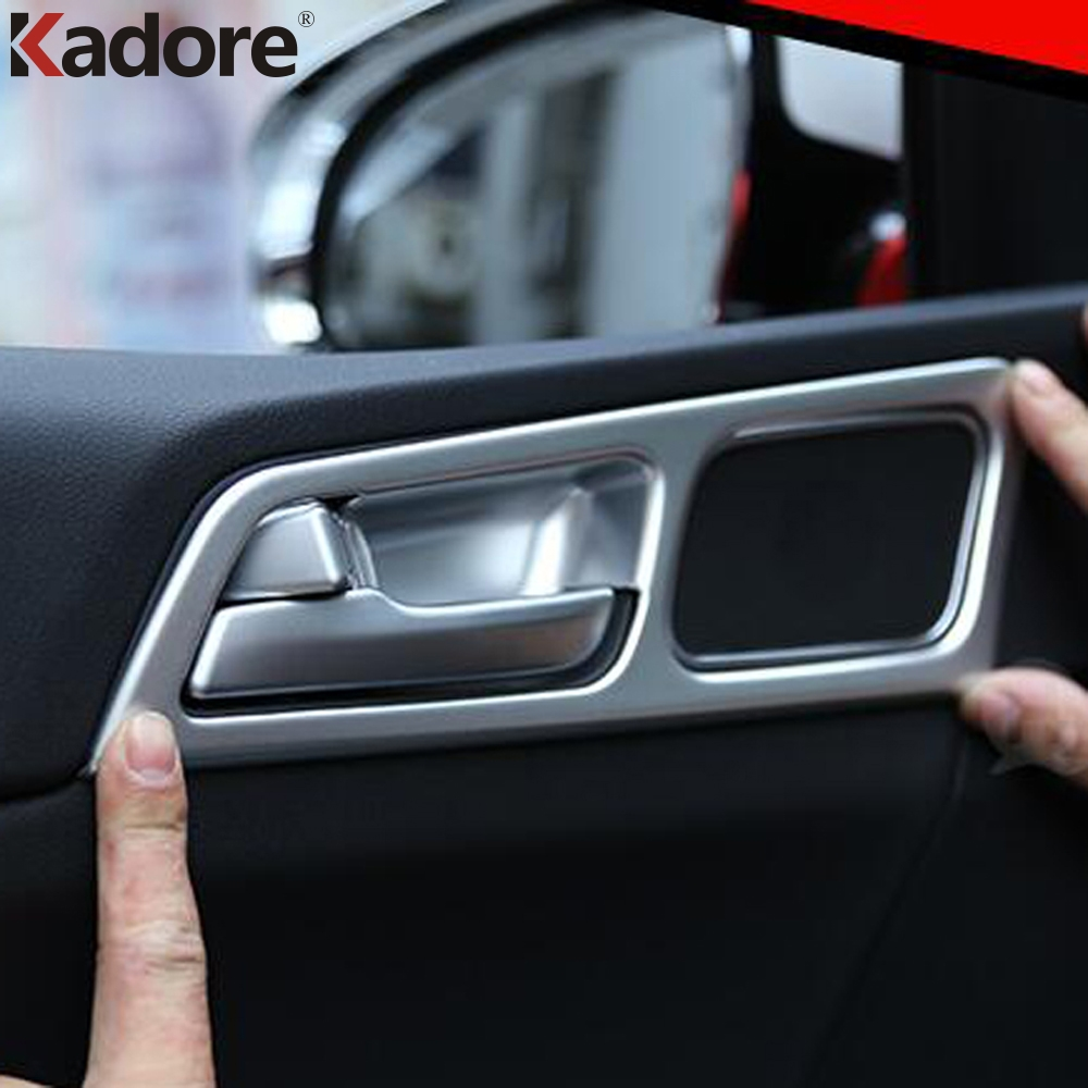 Car Accessories For Kia Sportage 2016 2017 ABS Matte Interior Side Door Handle Bowl Covers Trim 4Pcs Only For Left Hand Drive