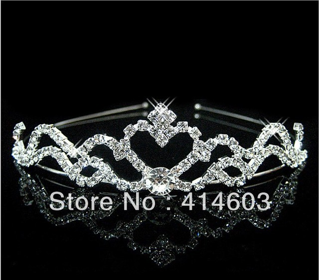 2013Free Shipping 3PCS/LOT Wegirl Silver Plated Crystal Bridal Headband Best Wedding Jewelry/Accessories For Hair  DH119