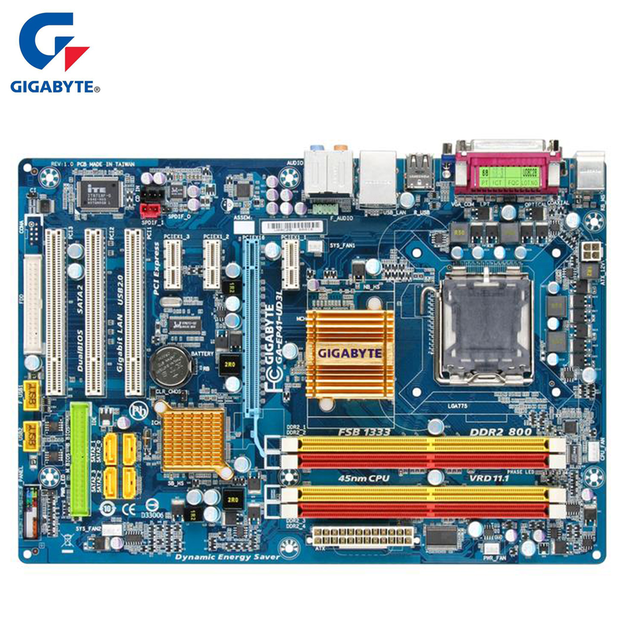 Gigabyte GA-EP41-US3L Motherboard For Intel G41 DDR2 USB2.0 16GB SATA II LGA 775 EP41 US3L Desktop Mainboard Systemboard Used asus p5g41t m lx3 plus motherboard lga 775 ddr3 8gb for intel g41 p5g41t m lx3 plus desktop mainboard systemboard sata ii used