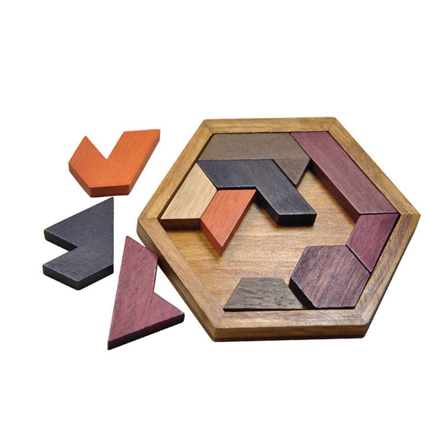 Mambobaby Design Puzzle Wooden Toys For Children Tangram Jigsaw