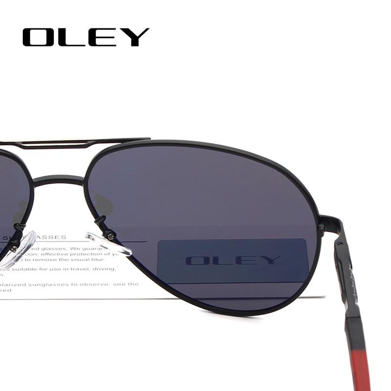 234b4122d OLEY marca moda hombres gafas de sol polarizadas Retro clásico aluminio  piloto gafas HD gafas tonos para hombres/Wome R7614 en De los hombres gafas  de sol ...