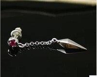 Thai Silver Inlaid Zircon 925 Sterling Silver Earrings Ear Wire