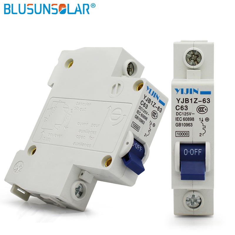 US $5.87 |1 piece 1P 63A DC125V DC Circuit Breaker Air Switch Power on