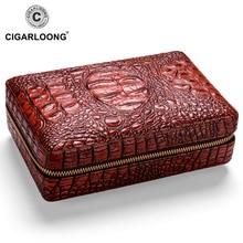COHIBA COHIBA Leather Cigar Case Cedar Cigar Box Travel Humidor With Cigars Lighter Cutter Humidifier Set W/ Gift Box CLA-T113-1 cohiba