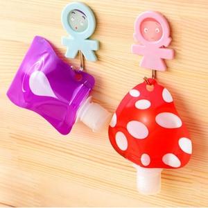 Image 4 - 1pcs Lovely Travel Portable Mini Hand Sanitizer/Shampoo/Makeup Fluid Bottle Bathroom Products Packaging Bottles