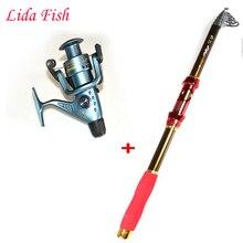 2.4m2.7m3.6m Telescopic Fishing Rod and 4000series Fishing Reel Wheel Portable Travel Fishing Rod Spinning Fishing Rod Combo