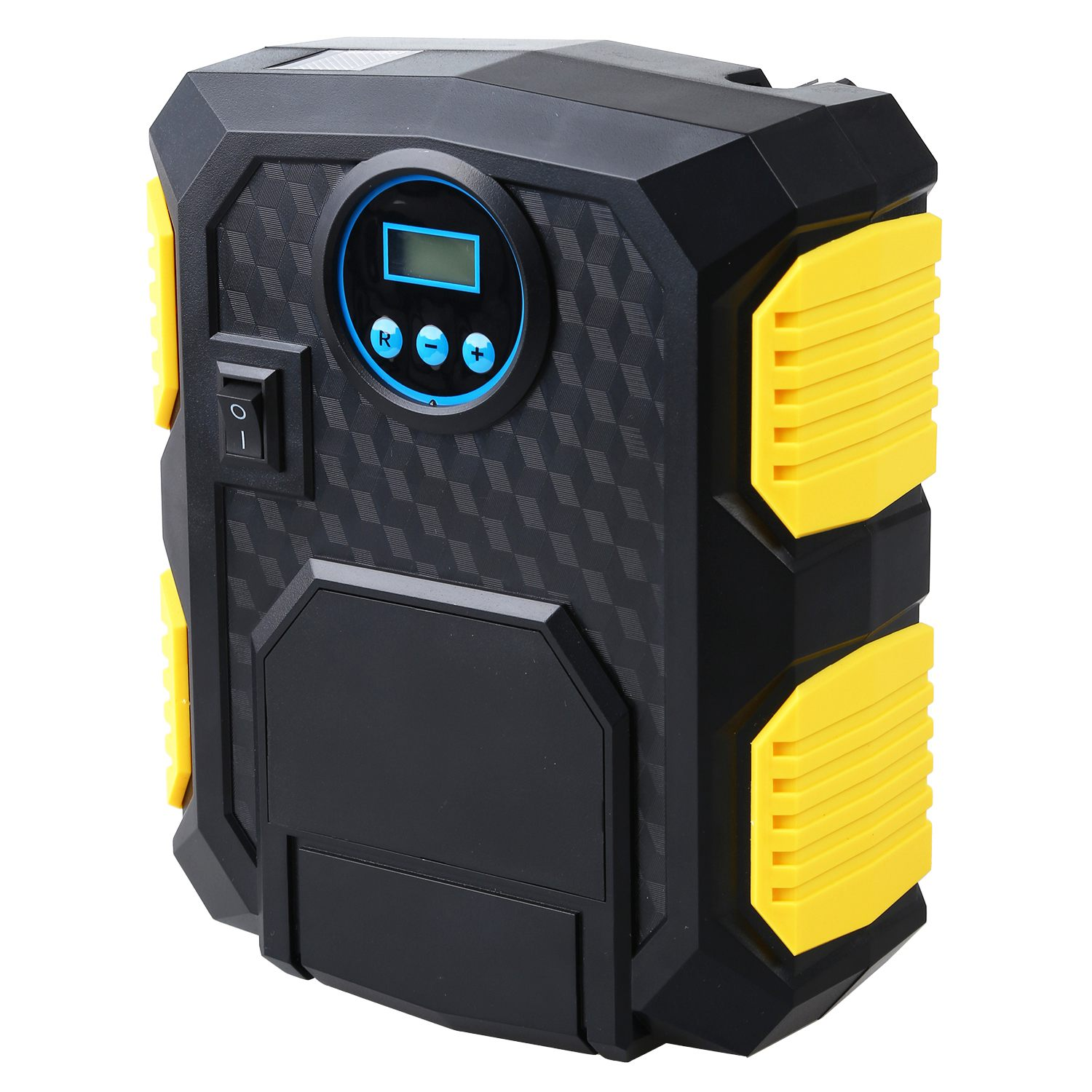 Digital Tire Inflator 12V Digital Car Tyre Inflator Electric Air Compressor Automatic Portable Pump(China)