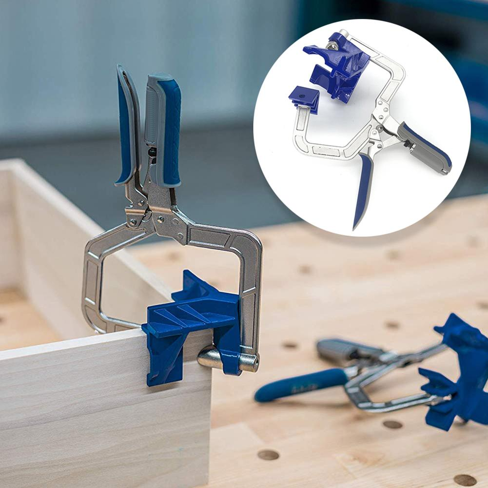 90 Degree Right Angle Corner Clamp Woodworking Clamping Hand Tool Set 90 Degree Angle Carpenter's Clamp Right Angle Holder-in Wood DIY Crafts from Home & Garden