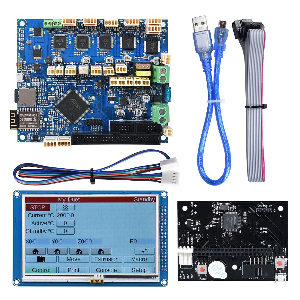 Duet 2 Wifi Control Board 32 Bit Cloned Duetwifi+4.3'' PanelDue Touch Screen Expansion Board CNC To SKR V1.3 3D Printer Parts