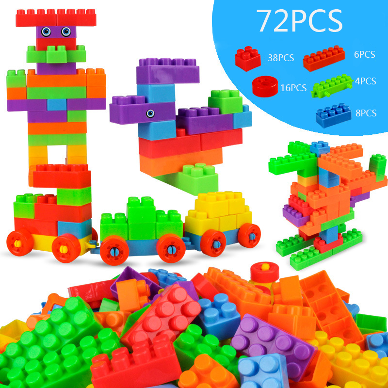 Creative Uses For Bricks: High Quality 72 Pcs Large Particles Building Blocks Bricks