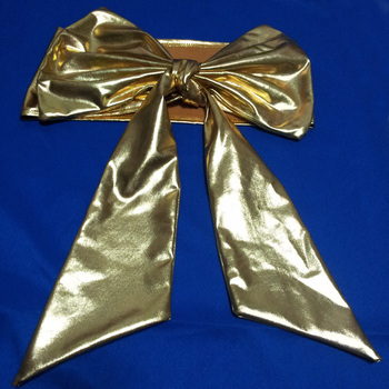 golden bowknot for chair covers wedding banquet decoration