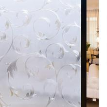 Rabbitgoo 3D Static Decorative Privacy Window Films No Glue for  Self-Adhesive Frosted Glass Film Heat Flower Sunshade Control