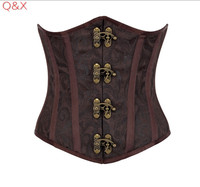 WK25 2017 Hot Sale Lovely Pure New Women Satin Sexy Bustier Lace Up Boned Top Corset
