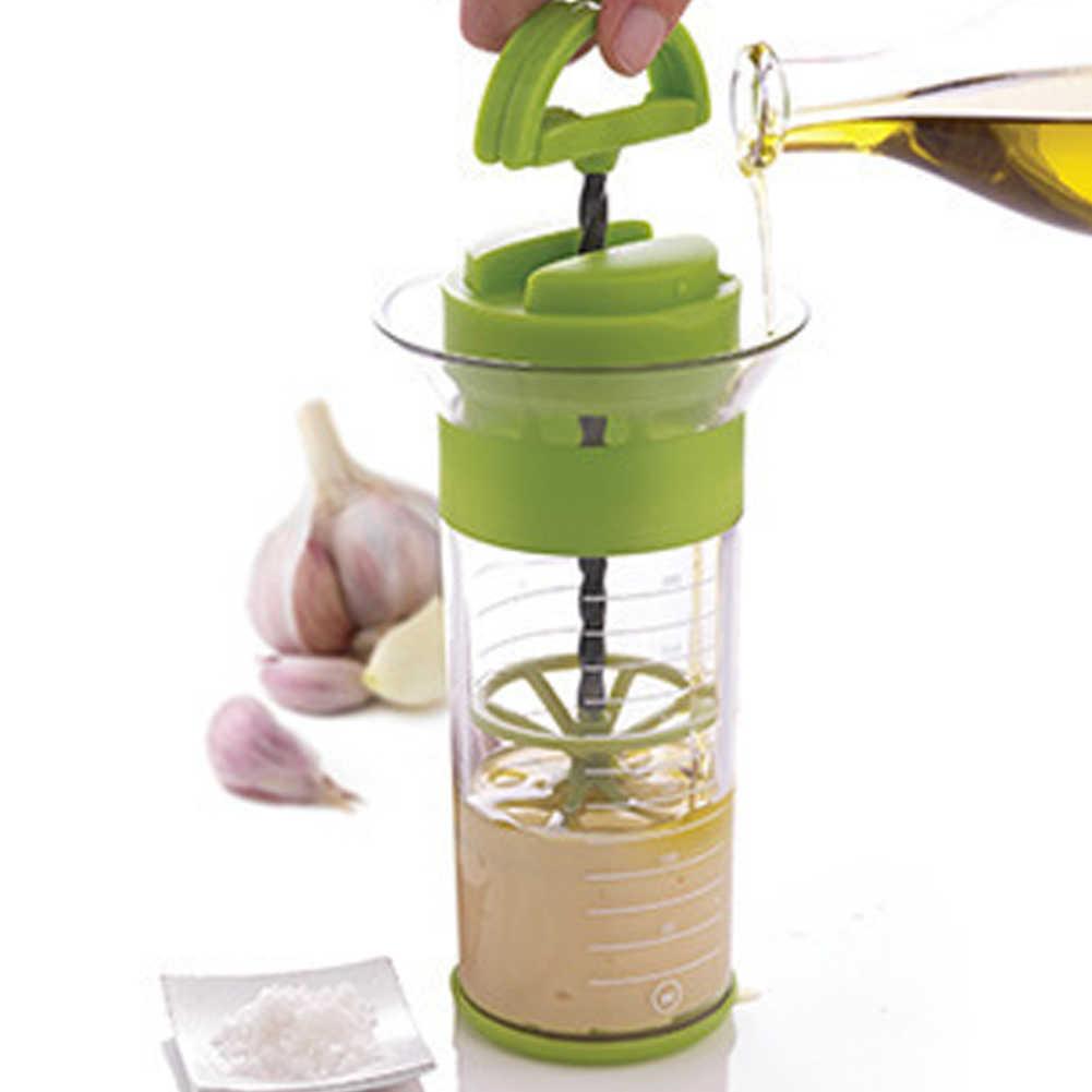 Прибор для заправки салата шейкер чашки уникальный универсальный ручной смеситель 300 мл фритюрница венчик многофункциональные соусы гаджет