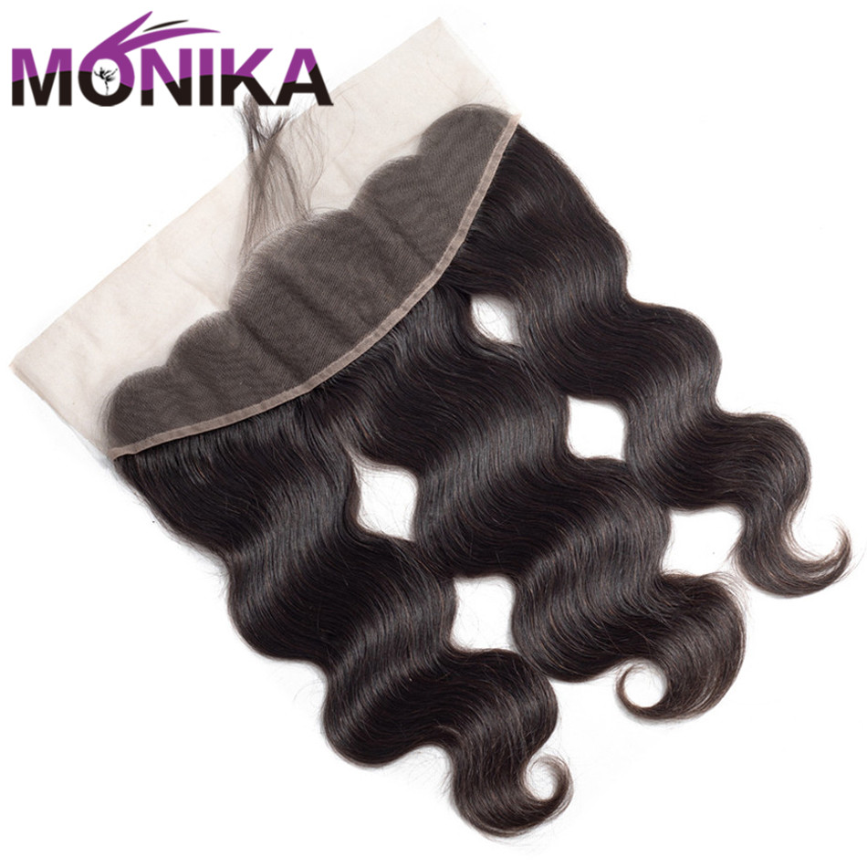 Malaysian Body Wave Hair 13*4 Ear To Ear Lace Frontal Closure With Baby Hair Free/Middle Part Closure Monika 100% Human Hair
