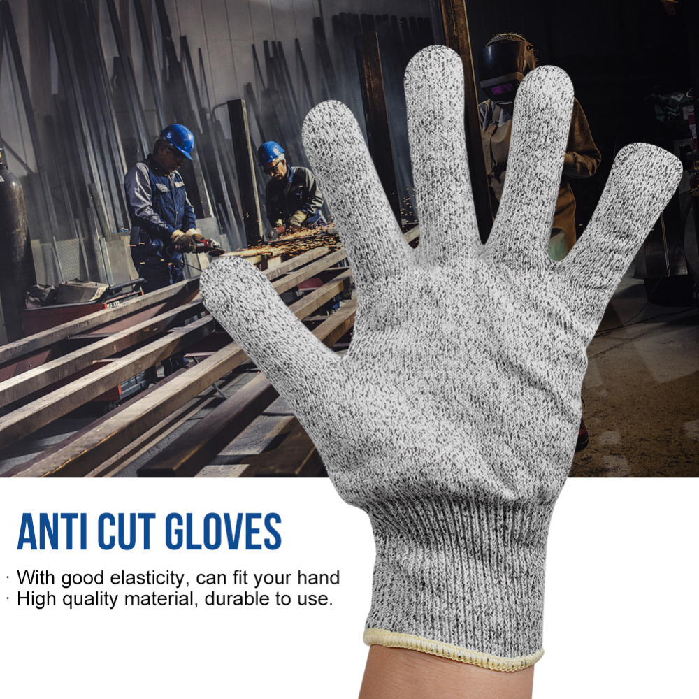 1Pair HPPE Cut Resistant Gloves Anti-Cut Glove Working Gloves Protective Finger Kitchen Wear-Resistant Safety Gloves XS XXS XXL