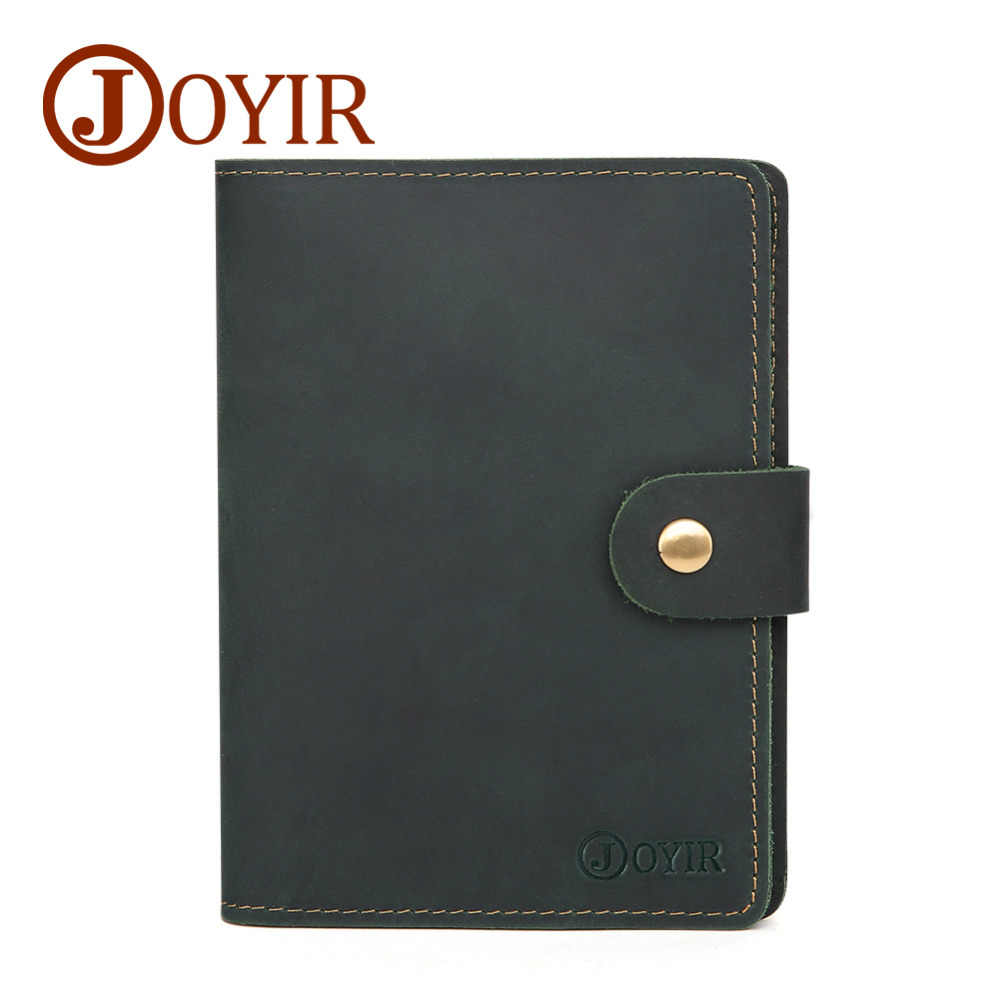 80da04259 Men Passport Cover Genuine Leather Passport Holder Travel Wallet Buttoned Card  Wallet Credit Card Holder